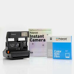 Hand-wrapped Gift Kit - Polaroid One Step Flash 600 Camera And Film Bundle