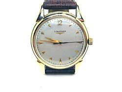 Longines Vintage Fancy Lugs Mechanical Movement 14k.y. Gold Gents Used Watch.