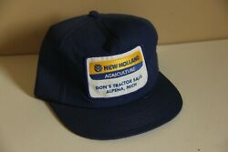 New Holland Agriculture Dons Tractor Sales Alpena Michigan Patch Hat Cap Trucker