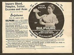 Vintage Ads Clipped From 1899 Frank Leslie's Popular Magazine - Sulphume Soap