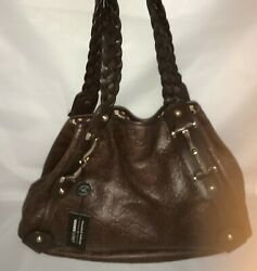 NEW GUCCI GUCCISSIMA LEATHER PELHAM SHOULDER CHOCOLATE BROWN BURGUNDY HAND-BAG
