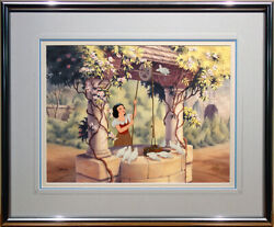 Snow White At The Well Limited Edition Hand-painted Cel Framed Disney 1992