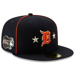 NEW ERA MLB Detroit Tigers 59FIFTY ASG All Star Game patch Hat Cap Navy Fitted