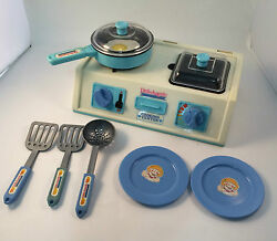 Little Angels Toy Cooking Center 1970/80s With Original Cookware Vintage As Is