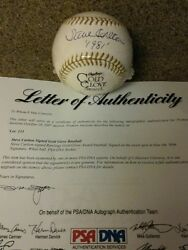 Hall Of Fame☆steve☆ ☆carlton☆autographed ☆gold☆glove☆ball, Certified By☆psa/dna☆