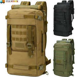 50L Tactical Molle Backpack Waterproof 3 Day Assault Pack Military Rucksack Bag