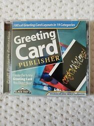 Greeting Card Publisher Software Cd By Black Toothcustomize Create Your Cards