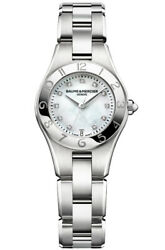 Baume And Mercier Womenand039s Linea Stainless Steel Diamond Quartz Womenand039s Watch 10011