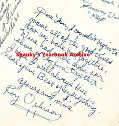 1950s School Yearbook Rock N Roll Roy Orbison Large Inscription, Pictures Signed