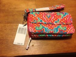 NWT VERA BRADLEY ALL IN ONE CROSSBODY FOR IPHONE 6 6 7 7 8PAISLEY IN PARADISE $35.00