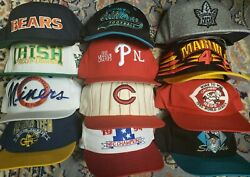 Lot of 12 Vtg Sports Hats: Starter The Game Mitchell Ness New Era ToW AJD