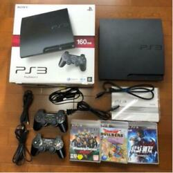 Ps3 Main Unit 160 Gb Cech -3000 Softwares Video Tv Game Sony Black Used