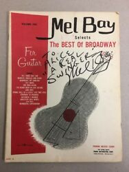Lot Of Three Mel Bay Guitar Books - Two Signed - Rare