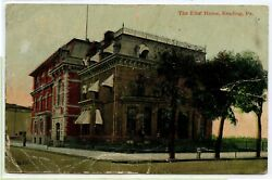 VINTAGE 1913 DB POSTCARD ~ Elks' Home ~ READING PENNSYLVANIA