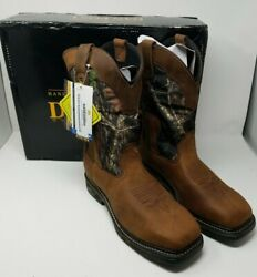 NEW - Dan Post Men's Hunter Waterproof Steel Toe Leather Boots-Size 11D -DP69488