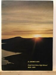 1975 Coast Joint Union High School Annual Yearbook Cambria California Ca