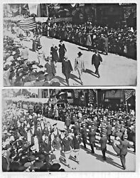 2 Rppc Of Ccff Parade Ohio 1920s Unposted Black And White Photo Postcards 22 And 24