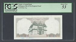 Nepal 50 Rupees Nd1974 P25p Progressive Proof About Uncirculated