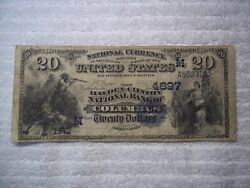 1882 20 Columbus Ohio Oh National Currency Date Back 4697 Hayden-clinton Nb