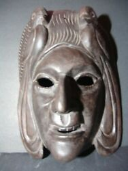 Highly A - Authentic Tribal Big Wood Mask From Guatemala - Metaphysical Category