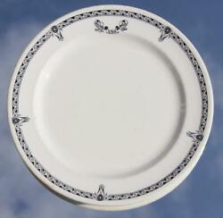 White Star Line Rms Olympic Era Pattern 2nd Class Dinner Plate 1920's A/f 2.