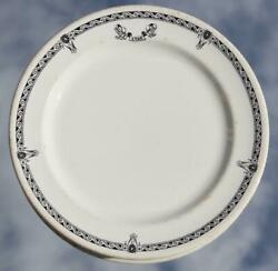 White Star Line Rms Olympic Era Pattern 2nd Class Dinner Plate 1920's A/f 3.