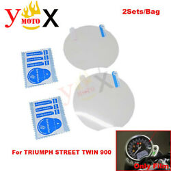 Motorcycle Cluster Screen Scratch Protector Film For Triumph Street Twin 900