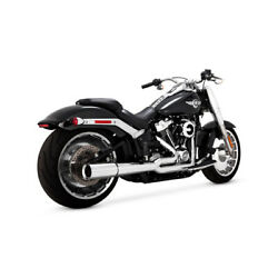 Vance And Hines 2-1 Pro-pipe Chrome, For Harley Davidson Fatboy/breakout 18-20