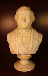 Richard Wagner Marble Bust 12 Tall Composer Classical Music Germany Sculpture