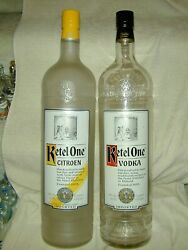 2 Ketel One Holland 4.5l Bottles Retail Display Dummy Sealed Glass Empty