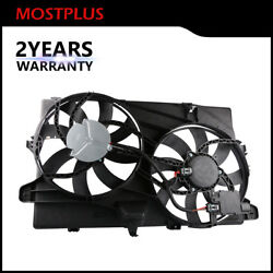 Mostplus Dual Radiator Cooling Fan Assembly For 2007-2015 Ford Edge Lincoln Mkx