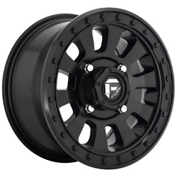 For 4 Wheel Fuel 1pc Tactic Matte Black 18x9 Rim Chevy Gm Toyota 6x5.5-12 Off