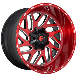 4 Wheels Fuel 1pc Triton Candy Red Milled 22x10 Ford F250 Rims 8x170 -18 Offset