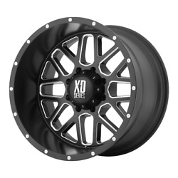 For 4-xd By Kmc Wheel Grenade Satin Black Milled 22x12 Chevy Toyota 6x5.5-44