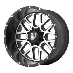 4-xd By Kmc Wheels Grenade Satin Black Machined Face 20x12 Rims Gm Toy 6x5.5-44