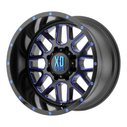 4 Rims Xd Rims Grenade Satin Black Milled With Blue Clear 20x12 Rims 6x5.5-44