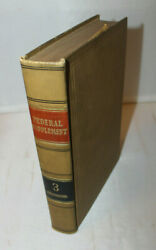 Westand039s Federal Supplement Volume 3 - Law Book - 1933