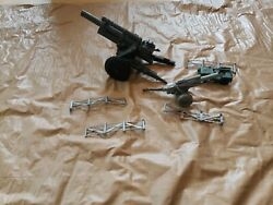 Vintage Marx Army Battle Playset Accessory Fence Tank Jeep Cannon