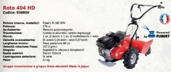 Cultivator Roto 404 Hd Series Pubert With Engine R 180 Ohv 179 Cc