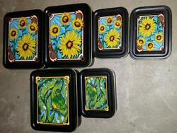 6qty Glow Industries Tin Tins 2 Sizes Small And Large Stash Your Stuff Nos