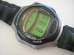 New N.o.s. Casio Lcd Vintage Watch W-68h, W-68h-1bv, Module 2189. Day Counter.