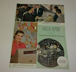 Origional Pre Owned 1956 National Cash Register Co. Annual Report/ Finance