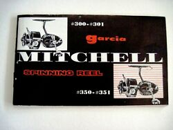 Vintage Garcia Mitchell 300-301 Spinning Reel Booklet W/ Lots Of Pics And Info