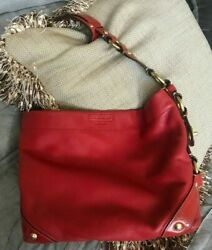 Vintage Coach Red Bag with Heavy Gold Hardware Accents $29.00