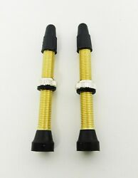Ultracycle 48mm Brass Tubeless Valves Pair 2 Valves Great For Road Or Mtb New