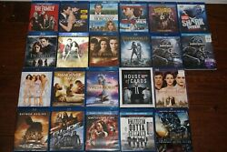 - Lot Of 22 - Blu-ray Movies Twilight, 007, Hunger Games, No Digital Codes