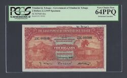 Trinidad And Tobago 2 Dollars 2-1-1939 P6bs Specimen Perforated Uncirculated