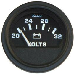 Faria Hd 2 Voltmeter 14-32v Black Vp0129b
