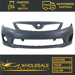 Fits 2011-2013 Toyota Corolla Base Front Bumper Painted
