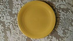 Fiesta Dinnerware Yellow 13 Chop Plate Double Footed Vintage Homer Laughlin